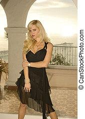 Blond Woman in a Window