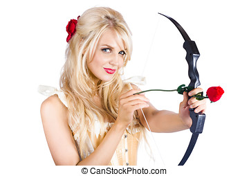 Blond woman with cupid bow