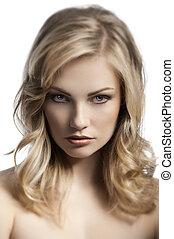blond young lady portrait
