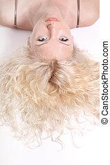 blonde beautiful young woman