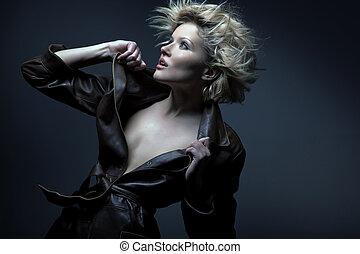 blonde , beauty, verticaal