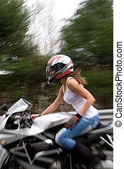 Blonde Biker Girl