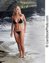 blonde, bikini