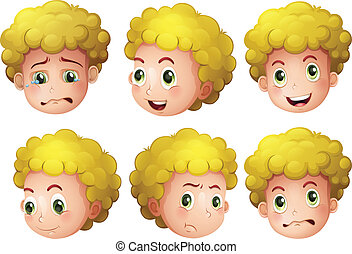 Blonde boy - Illustration of a blonde boy's head