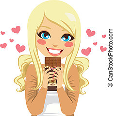 Blonde Chocolate Lover