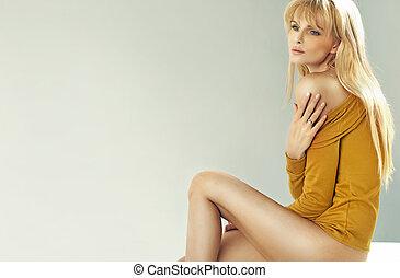 blonde, cutie, zachte huid