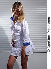 Blonde depraved nurse - Blonde depraved medical nurse