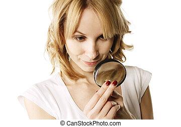 Blonde examining ring