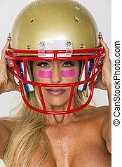 Blonde Football Model