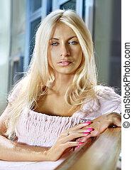 blonde, gezicht