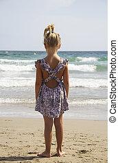 girl look sea