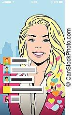 Blonde Girl Video Blogger Profile Icon