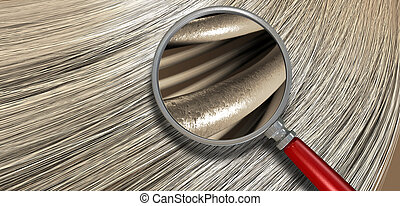 Blonde Hair Blowing With Magnification - A closeup view of a...