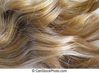 Blonde Hair - golden tresses with slight curl