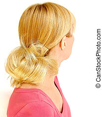 Blonde Hair - Portrait of a blonde haired woman,...