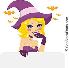 Blonde Halloween Witch