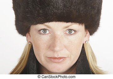 Blonde in Fur