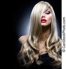 blonde , mode, meisje