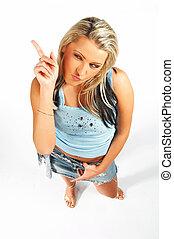 blonde , model, uitdrukkingen, sexy