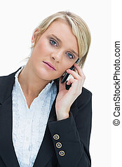 Blonde on the phone