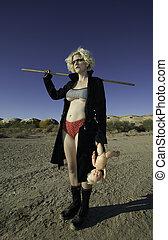Blonde Science Fiction Model