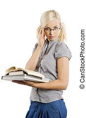 blonde , sexy, leraar