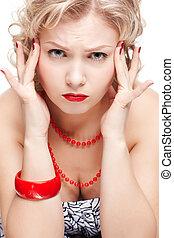blonde size plus model