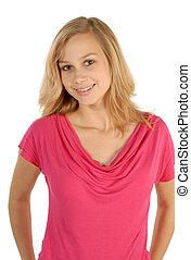 Blonde smiling girl - Portraet of a smiling beautiful blonde...
