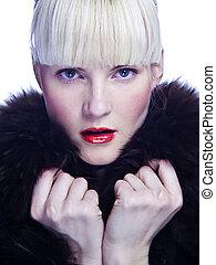 Blonde winter beauty