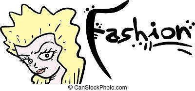 Blonde woman fashion