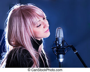 blondie, microfone