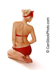 blondin, kvinna, isolerat, vita