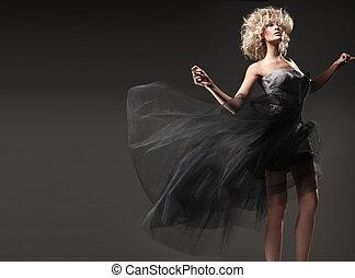blondin, skönhet, stil, söt, mod, foto