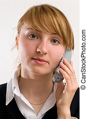 blondy on the phone