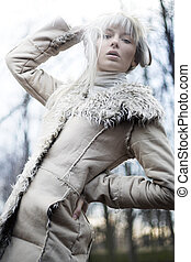 blondynka, piękny, fotografia