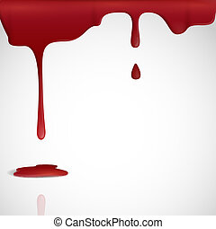 blood., égouttement, rouges