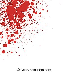 an abstract illustration of sprayed blood
