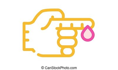 blood analysis color icon animation