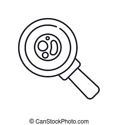 Blood analysis report icon, linear isolated illustration, thin line vector, web design sign, outline concept symbol with editable stroke on white background.