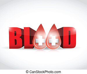 blood and word illustration design