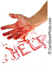 blood., arma, assassinato, faca, crime.