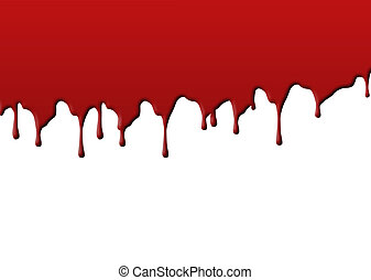 a spill of blood on a white background