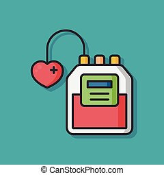 blood bag vector icon