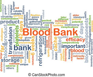 Blood bank background concept