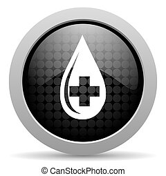 blood black circle web glossy icon