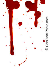 blood - Blood drops on a white background