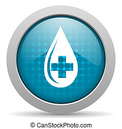 blood blue circle web glossy icon