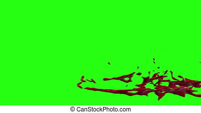 Blood Burst Motion Blur (Green Screen) 169 - Nice and real...