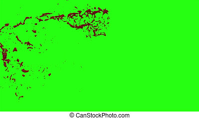 Blood Burst Motion Blur (Green Screen) 2