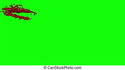 Blood Burst Slow Motion (Green Screen) 31